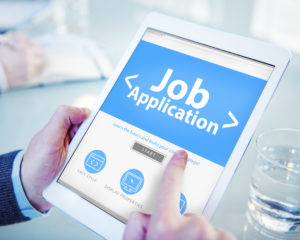 Applying for a Job on tablet Lake Arbor Automotive & Truck Westminster Colorado