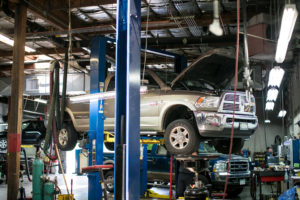 truck on bay for repairs Lake Arbor Automotive & Truck Westminster Colorado