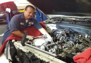 mechanic working on Auto Repair Lake Arbor Automotive Westminster