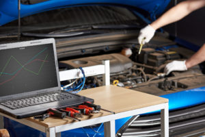 Equipment diagnostics with laptop for car Lake Arbor Automotive & Truck Westminster Colorado